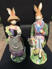 Fitz and Floyd Old World Rabbits Figurines