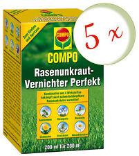 Sparset: 5 x COMPO Rasenunkraut-Vernichter Perfekt, 200 ml