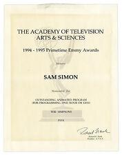 Emmy Nomination for ''The Simpsons'' Sam Simon Estate