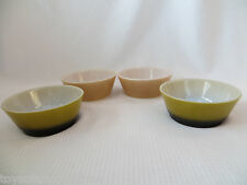 Vintage Fire King Anchor Hocking Lot 4 Cereal Soup Bowls brown avocado green