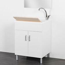 Lavatoio moderno da interno 50 x 50 cm doppia anta + asse in legno incluso