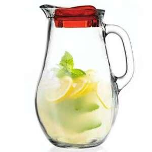 ORION Glaskaraffe Glas Karaffe KrugGlas 2,1 L mit Deckel und Auslauf Krug Glas