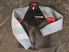 Jet Pilot Kawasaki Wetsuit Jacket Womens XS Gray Black Red