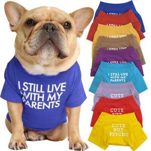 Dog T-shirt Vest Soft Cotton Pet Cat Clothes Puppy Chihuahua Costumes Apparels