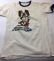 Lot B. QUIK Chocolate Drink Mix Promotional T Shirt XL As Is Well Worn