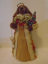 Handcrafted Dog Angel Holiday Christmas Tree Topper