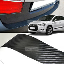 Carbon Black Rear Bumper Protector Decal Sticker for CITROEN 2010-2015 2016 DS4