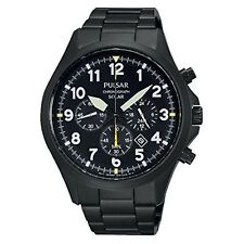 Pulsar Stainless Steel Case Sport Watches with Chronograph