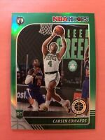 2019-20 NBA Hoops Premium Select Carsen Edwards Rookie RC #227 Green Prizm
