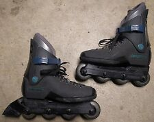 Vintage Rollerblades Lightning TRS Mens size 8 Womens size 9 Black Blue Grey