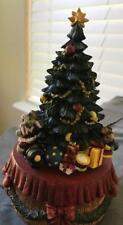 "Music Box Christmas Tree ""We Wish You a Merry Christmas"" Ceramic 7"" Tall   # G"