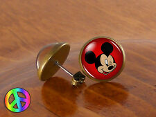 Mickey Mouse Face 2 Disney Ear Stud Earrings Girl Kids Toddler Baby Jewelry Gift