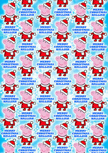 PEPPA PIG Personalised Christmas Gift Wrap - Peppa Pig Wrapping Paper