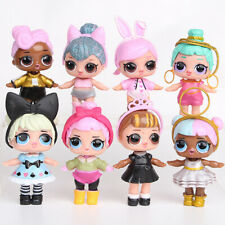 8PCS SET LOL Lil Outrageous Surprise Series Dolls Kids Toy Gifts Cake Topper