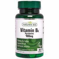 Vitamin B6, High Potency ,100mg, x 100 tablets - FREE UK POST - Natures Aid