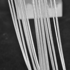 "10PCS 26"" Design Jewelry Findings Flat Curb Silver Necklace Chains For Pendant"