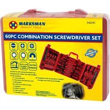 BN 60PC Combination Screwdriver Set Storage Case Hex Skank Pozi Spanner Marksman