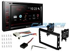 """PIONEER DOUBLE 2 DIN 6.2"""" TOUCHSCREEN CAR STEREO W COMPLETE INSTALL DASH KIT SWC"""