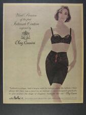 1963 Peter Pan Oleg Cassini Intimate Couture black bra girdle vintage print Ad