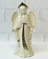 "Christmas Lenox China Jewels Nativity Standing Angel Open Arms Hands 7"" Vintage"