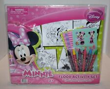 NEW Disney's Minnie Mouse Floor Activity Set Includes Pad, Crayons & Stickers