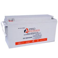 Pro Power 150AH 12V Volt AGM Deep Cycle Battery Caravan 4WD Boat Solar