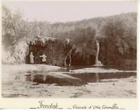 Algérie, Frendah, la cascade d'Aïn Témouflet  vintage citrate print, Tira