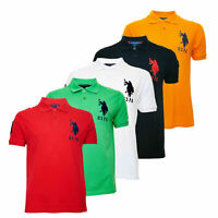 Kids US Polo Assn Boys Children T Shirt School Uniform Cotton Polo T Shirt Top