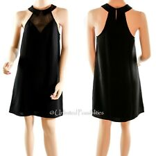 New LADAKH Cut Out Mesh Shift Dress Black Small with Tags