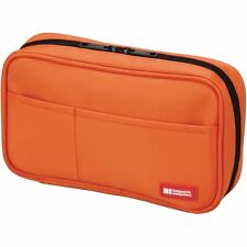 Lihit Lab. Pen Case  Book Type Orange A7551-4  5cm×20cm×12cm from Japan