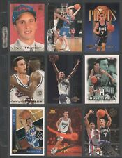 BOBBY HURLEY ~ Lot of (9) Different Basketball Cards w/ Display Sheet ~ (L73)