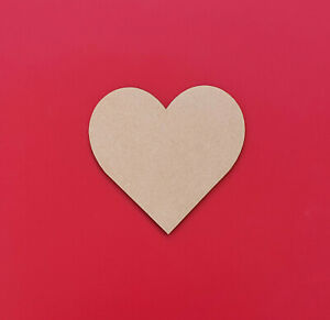 Wooden Heart Shapes Hearts Bunting Craft Embellishments Decoration 3mm Thick MDF