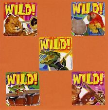 15 Wild Animal Band - Large Stickers - Party Favors - Rewards