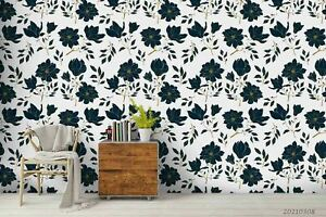 3D Floral Seamless Wallpaper Wall Mural Removable Self-adhesive Sticker1055