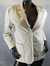 Panther Womans Blazer Jacket Size Large Lined Long Sleeves Beige Pockets