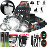 Headlight Headlamp 100000LM T6 LED Head Torch 18650 Flashlight Work Light Camp