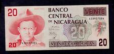 NICARAGUA 20  CORDOBAS  ( 1990 )    PICK # 176  VF+.