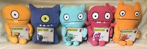LOT OF 5 UGLY DOLLS PLUSH-SURPRISE INSIDE: WEDGEHEAD,UGLY DOG, BAT,MOXY,WAGE NWT