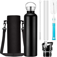 Stainless Steel Water Bottle 5 Layers Powerful Insulated Vacuum Flask Reusable