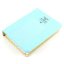 3Inch 64 Pockets Photo Album Blue for Polaroid Fuji Instax mini7s 8 25 50 90 AB