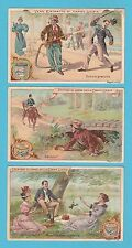 LIEBIG - SET OF 6 CARDS -  S 605  /  F 605  - SURPRISING  SITUATIONS  -  1899