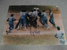 L#379 George Brett autograph photo, Kansas City Royals, Pine Tar game, COA