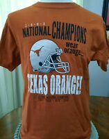 Texas Longhorns 2005 National Champions T shirt Medium 39 chest Austin UT