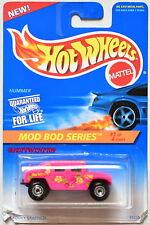 HOT WHEELS 1995 MOD BOD SERIES HUMMER #1/4 PINK W+
