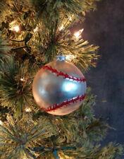 Christmas Ornament Glass Baseball Ball Raz Imports Sports Theme 2.5 inch