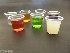 Clear Plastic Disposable Shot Glasses 100 x 25mL Tasting Sample Dessert Cups