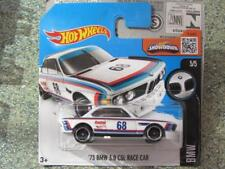 Hot Wheels 2016 #190/250 1973 BMW 3.0 CSL Race Car Blanco Funda J nuevo casting