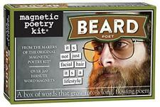 Magnetic Poetry BEARD Hipster Magnetic Words Fun Game Novelty  Fridge Magnet Set