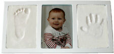 WHITE Air Dry CLAY WALL & PHOTO FRAME KIT for Baby Child Creates Foot Hand Print