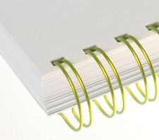 "14.3mm (9/16"") 34 loop 3:1 Renz Fluorescent Yellow ring wire box of 50"